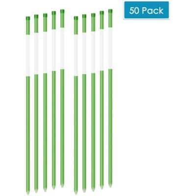 36 in. Driveway Reflectors 5/16 in. Dia Safety Shaft Solid Snow Poles Stakes, Green (50-Pack)
