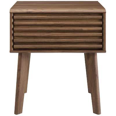 Render Walnut End Table Nightstand