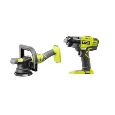 ONE+ 18V 5 in. Variable Speed Dual Action Polisher with ONE+ 18V Cordless 3-Speed 1/2 in. Impact Wrench (Tools Only)