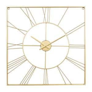 Gold Metal Glam Wall Clock
