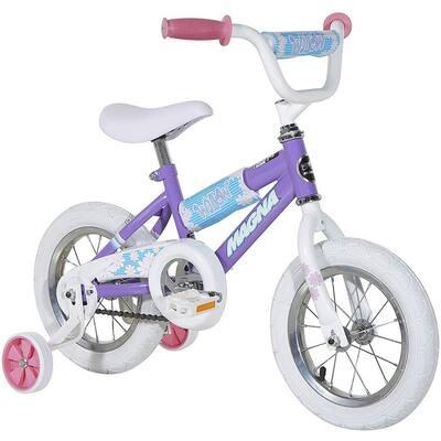Manga Children's 12 in. Beginner Bike with Training Wheels, Willow Purple