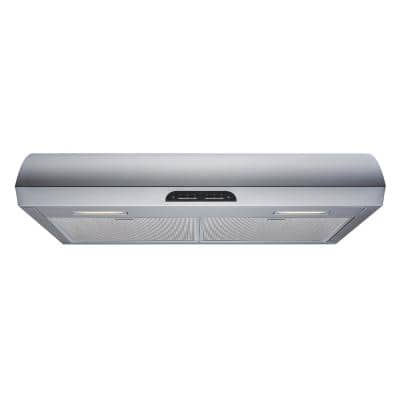 30 in. 480 CFM Convertible Under Cabinet Range Hood in Stainless Steel with Mesh Filters and Touch Sensor Controls