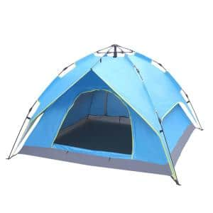 Pop-up 3-Person Camping Tent with Double-Deck