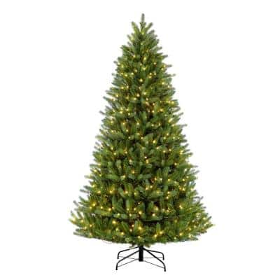 9 ft. Pre-Lit Incandescent Glacier Fir Artificial Christmas Tree with 1000 UL-Listed Clear Lights