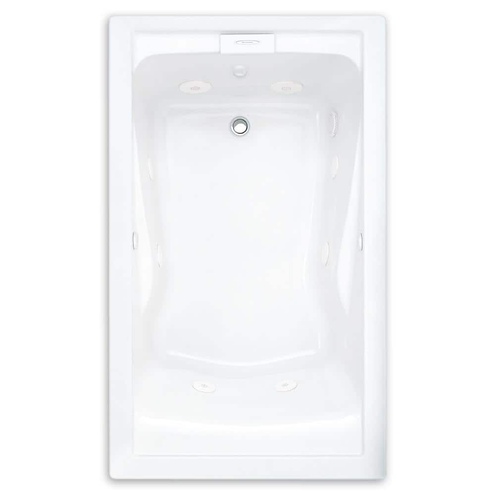 American Standard Everclean 60 In X 32 In Reversible Drain Whirlpool Tub In White 2422lc 020 The Home Depot