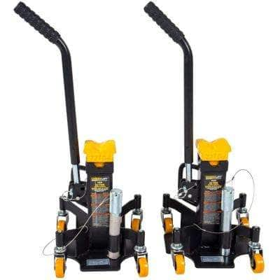 Omega Lift 22-Ton Heavy-Duty Jack Stands w/ Pin Style Stand Welded Steel and 4-Casters - 33220