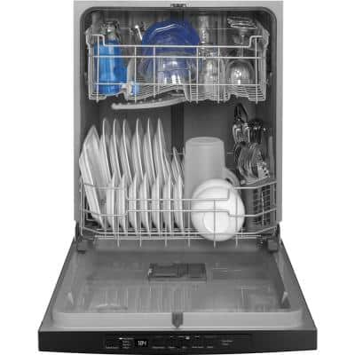 24 in. Black Top Control Smart Built-In Tall Tub Dishwasher 120-Volt with Steam Cleaning and 54 dBA