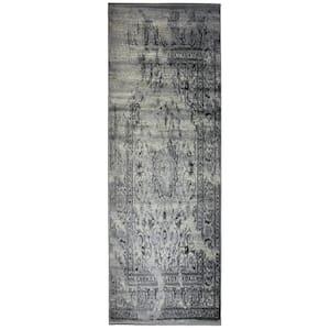 Ahwahnee Gray 3 ft. x 8 ft. Polypropylene Runner Rug