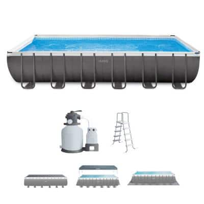 24 ft. x 12 ft. x 52 in. Rectangular Ultra XTR Frame Swimming Pool with Sand Filter