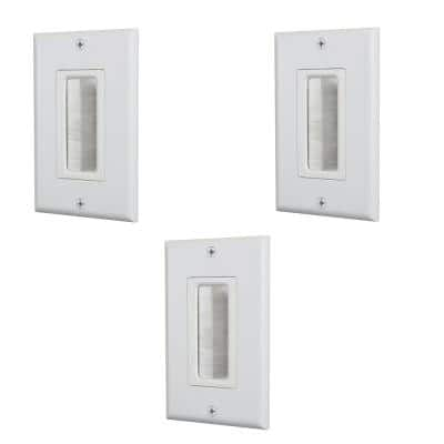 White 1-Gang 1-Decorator/Rocker/1-Duplex Wall Plate (3-Pack)