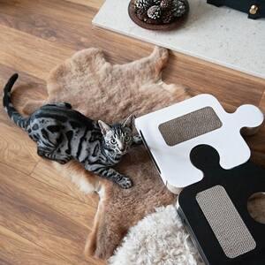 Black Puzzle Cardboard Cat Scratcher