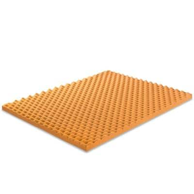 Copper 2 in. Plush No Pocket Gel Memory Foam Queen Mattress Topper