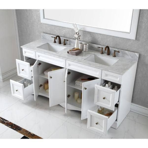 Virtu Usa Talisa 71 In W Bath Vanity Cabinet Only In White Ed 25072 Cab Wh The Home Depot