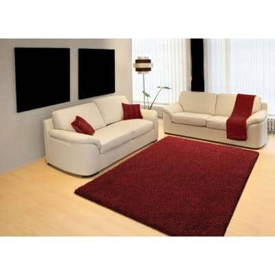 Pacifica Twist Red 8 ft. x 10 ft. Area Rug