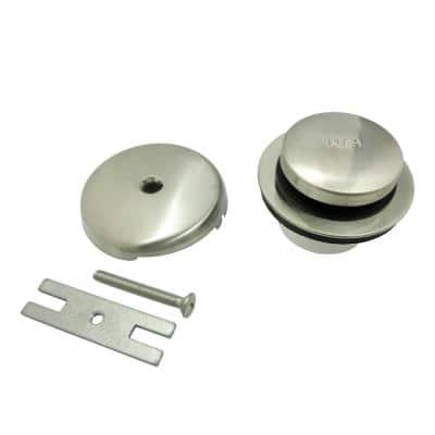 Easy Touch Toe-Tap Tub Drain Kit, Brushed Nickel