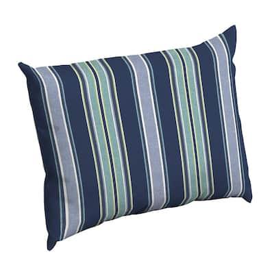 Sapphire Aurora Stripe Rectangle Outdoor Throw Pillow