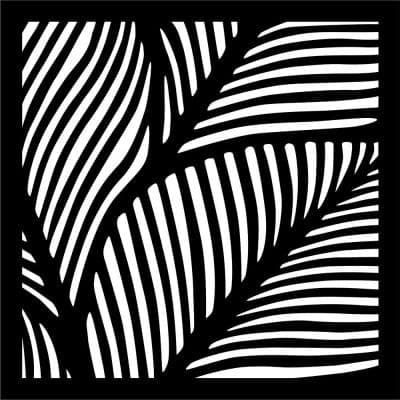 0.3 in. x 22.8 in. x 1.9 ft. Fronds Recycled Plastic Charcoal Wall Art
