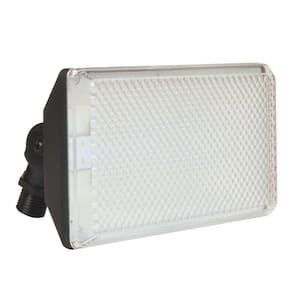 Multi-Use Wall Mount 1-Light Outdoor Black LED Flood Light