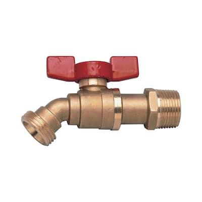 LFBD-QT 1/2 in. Lead Free Brass Quarter Turn Boiler Drain