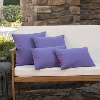 Coronado Purple Outdoor Throw Pillow (4-Pack)