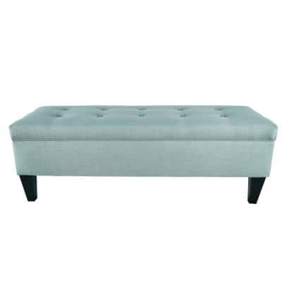 Brooke HJM100-2 10-Button Tufted Upholstered Long Storage Bench