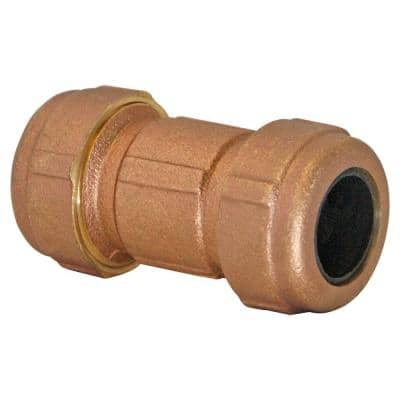 3/4 in. x 1 in. x 3 in. Short Pattern Brass Compression Coupling