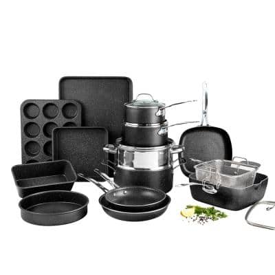 20-Piece Aluminum Ultra-Durable Non-Stick Diamond Infused Cookware and Bakeware Set