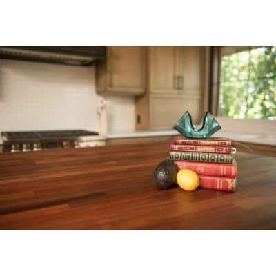 Unfinished Sapele 10 ft. L x 25 in. D x 1.5 in. T Butcher Block Countertop