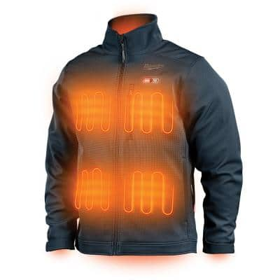 Men's X-Large M12 12V Lithium-Ion Cordless TOUGHSHELL Navy Blue Heated Jacket with (1) 3.0 Ah Battery and Charger