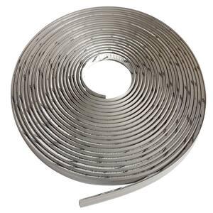 3/4 in. x 50 ft. Grey PVC Inside Corner Self-adhesive Flexible Caulk and Trim Molding