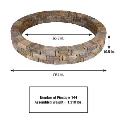Rumblestone 79.3 in. x 10.5 in. Concrete Tree Ring Kit in Sierra Blend
