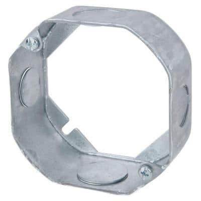 4 in. 1-1/2 in. New Work Deep Pre-Galvanized Metal Octagon Electrical Box Extension Ring