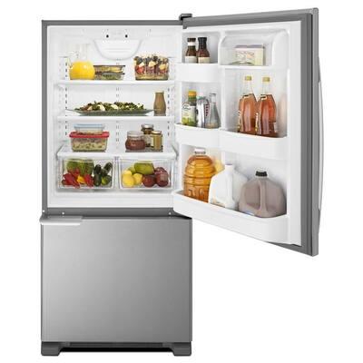 18 cu. ft. Bottom Freezer Refrigerator in Stainless Steel