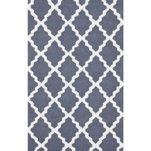 Marrakech Moroccan Trellis Blue Gray 6 ft. x 9 ft. Area Rug