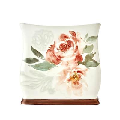 Holland Floral Tissue Holder in Natural