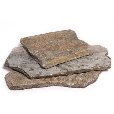 14 in. x 12 in. x 2 in. 60 sq. ft. Storm Mountain Natural Flagstone for Landscape, Gardens and Pathways