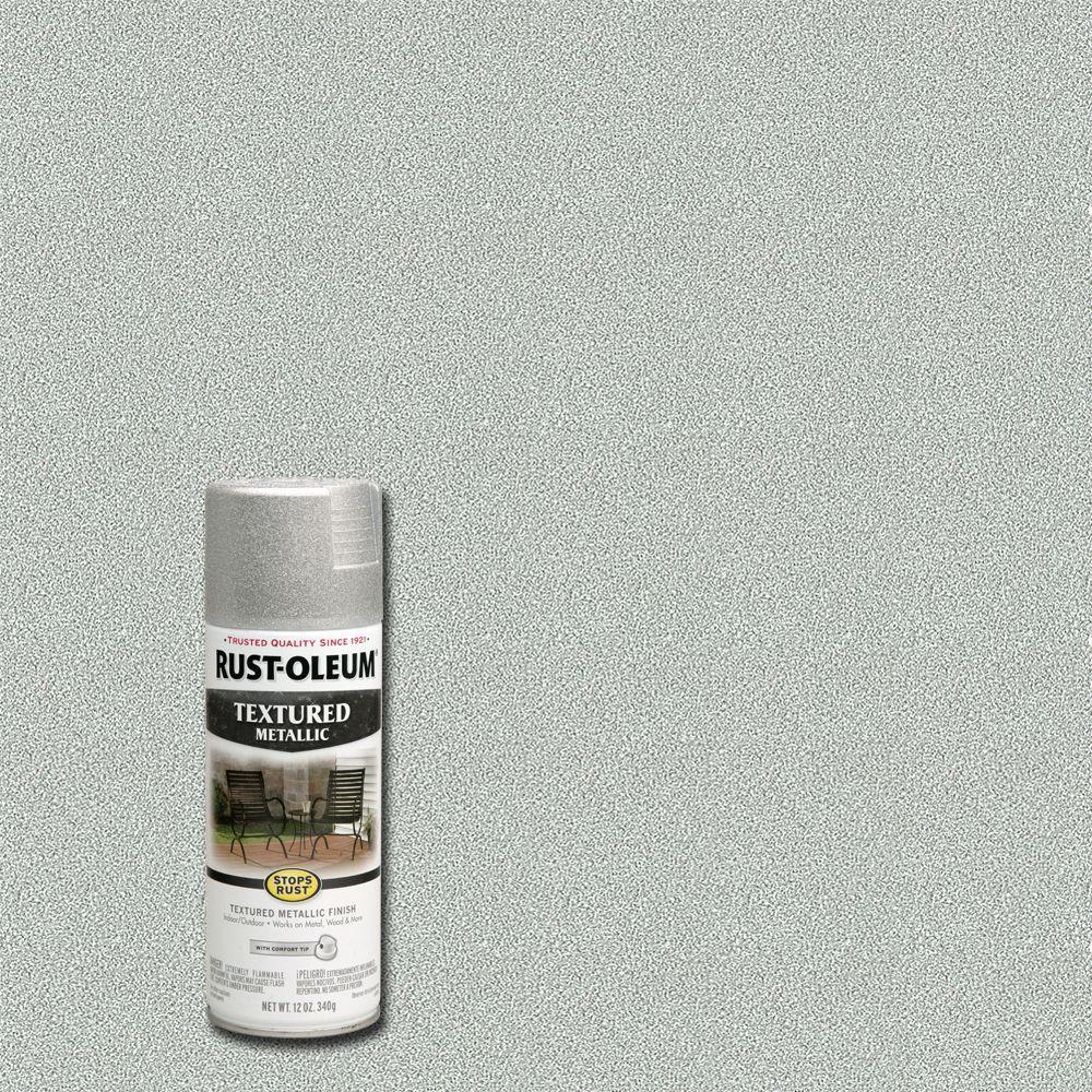 12 oz. Textured Metallic Silver Protective Spray Paint