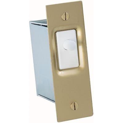 10 Amp Single-Pole AC/DC Push Button Door Switch (1-Pack)