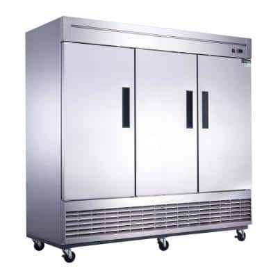 64.8 cu. Ft. 3-Door Commercial Upright Freezer in Stainless Steel