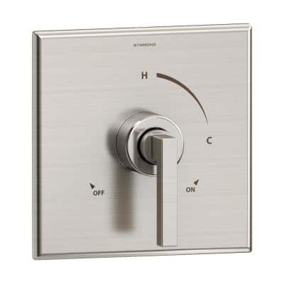 Duro 1-Handle Wall-Mounted Shower Valve Trim Kit in Satin Nickel (Valve not Included)