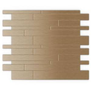 Take Home Sample - Murano LC Light Copper 4 in. X 4 in. Metal Peel and Stick Wall Mosaic Tile (0.11 sq. ft / Each)
