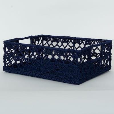 Mode Crochet Polypropylene Decorative Basket