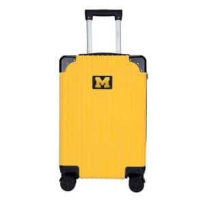 Michigan Wolverines premium 2-Toned 21'' Carry-On Hardcase in Yellow