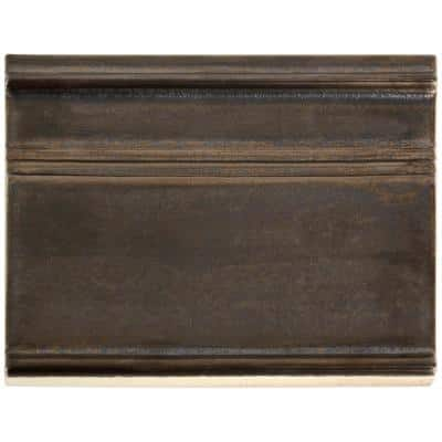 Delphi Metallic Copper 6 in. x 8 in. Polished Ceramic Base Molding Liner Tile