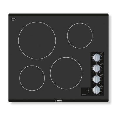 500 Series 24 in. Radiant Electric Cooktop in Black with 4 Elements including 2,200-Watt Element Boil Time