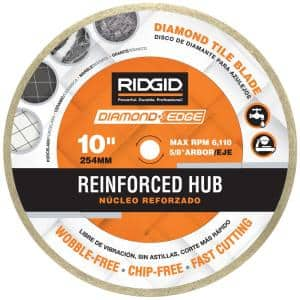 10 in. Reinforced Hub Tile Diamond Blade