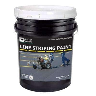 5 gal. White Line Striping Paint