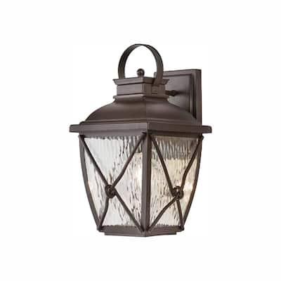 Springbrook 1-Light Rustic Outdoor Wall Lantern Sconce