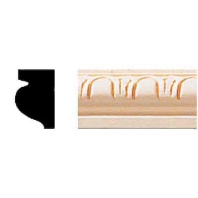 1/2 in. x 3/4 in. x 8 ft. Hardwood Wood Cove Moulding