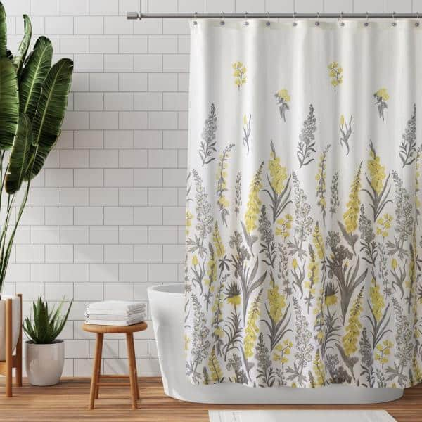 Zenna Home 70 In X 72 Yellow And, Shower Curtains Gray And Yellow